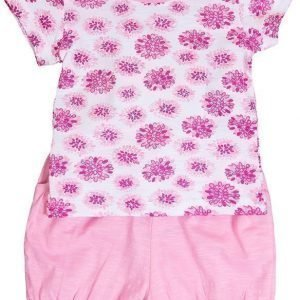 Max Collection T-paita ja shortsit White/pink