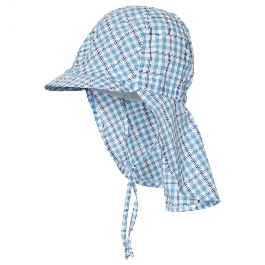 Maximo Hat With Neck Flap Blue Aurinkohattu