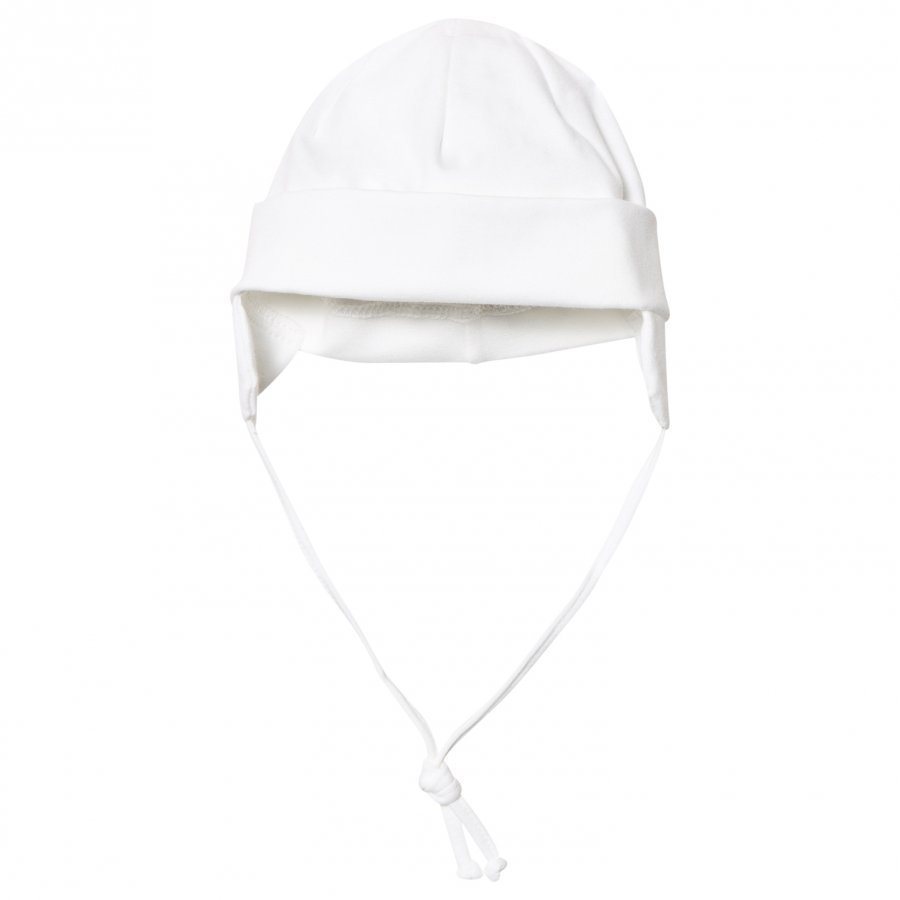 Maximo Lue Baby Hat White With Ear Flaps Pipo