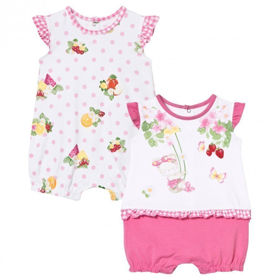 Mayoral Bear And Floral Rompers 2-Pack Romper Puku