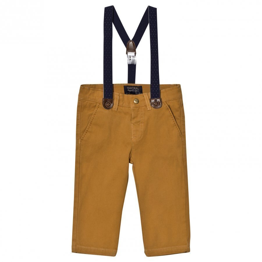 Mayoral Beige Chinos With Braces Chinos Housut