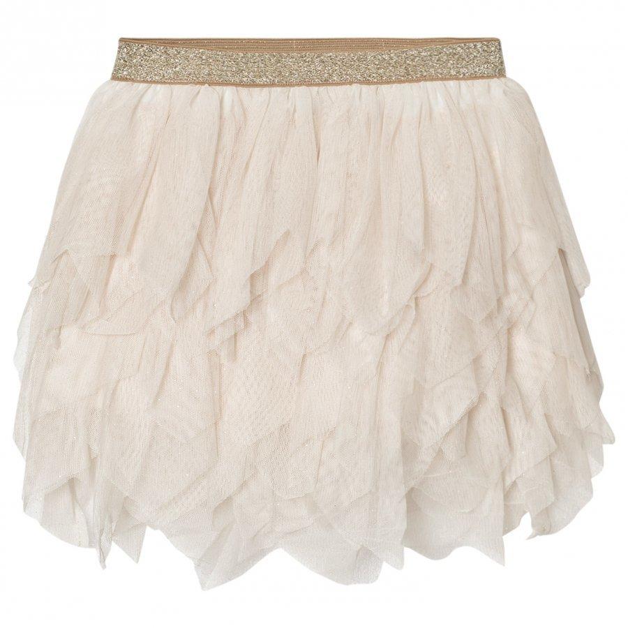 Mayoral Beige Glitter Petal Tulle Skirt Tyllihame