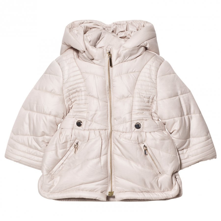Mayoral Beige Hooded Puffer Coat Toppatakki
