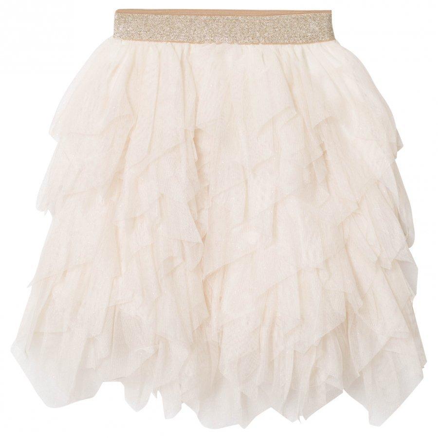 Mayoral Beige Petal Glitter Tulle Skirt Tyllihame