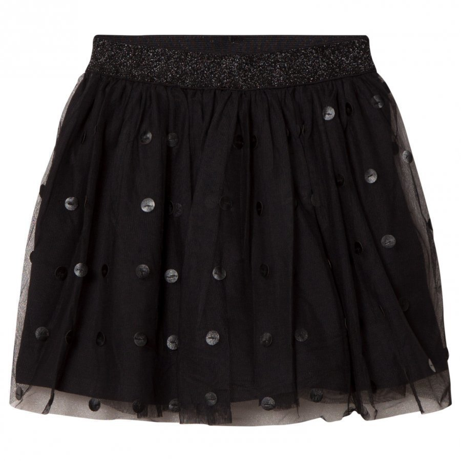 Mayoral Black Tulle Skirt With Pleather Circles Tyllihame