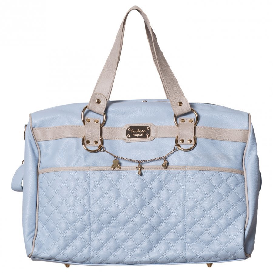Mayoral Blue Faux Leather Quilted Changing Bag Hoitolaukku
