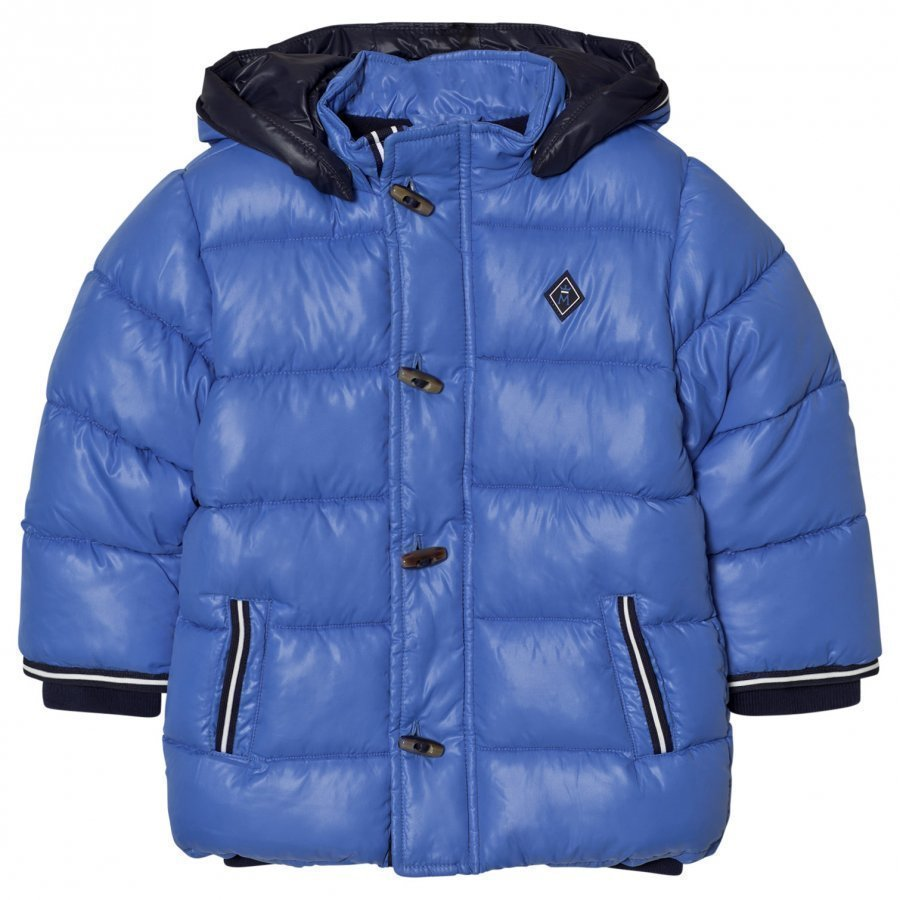 Mayoral Blue Hooded Puffer Coat Toppatakki