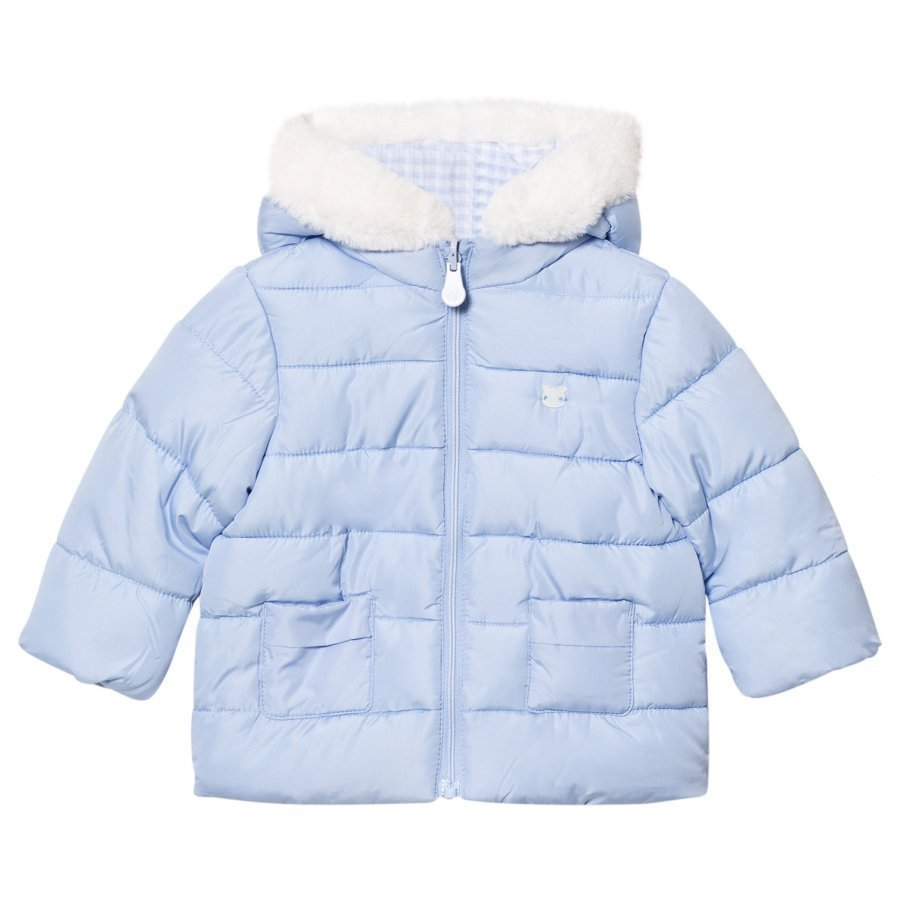 Mayoral Blue Padded Reversible Coat Toppatakki