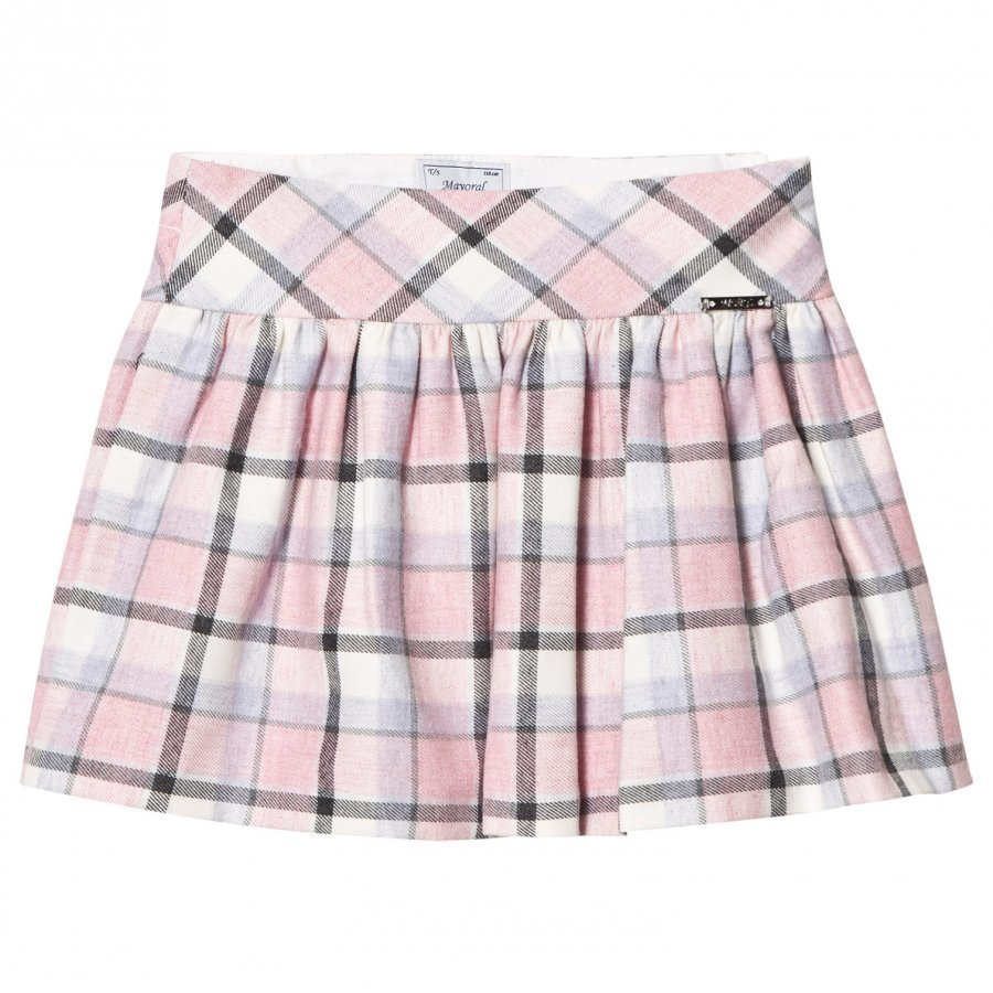 Mayoral Bubblegum Checkered Skirt Lyhyt Hame