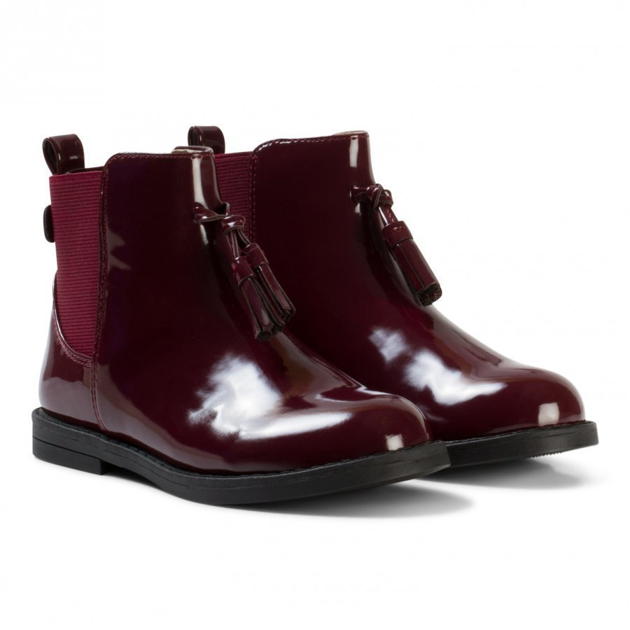 Mayoral Burgundy Leather Biker Boots Nilkkurit