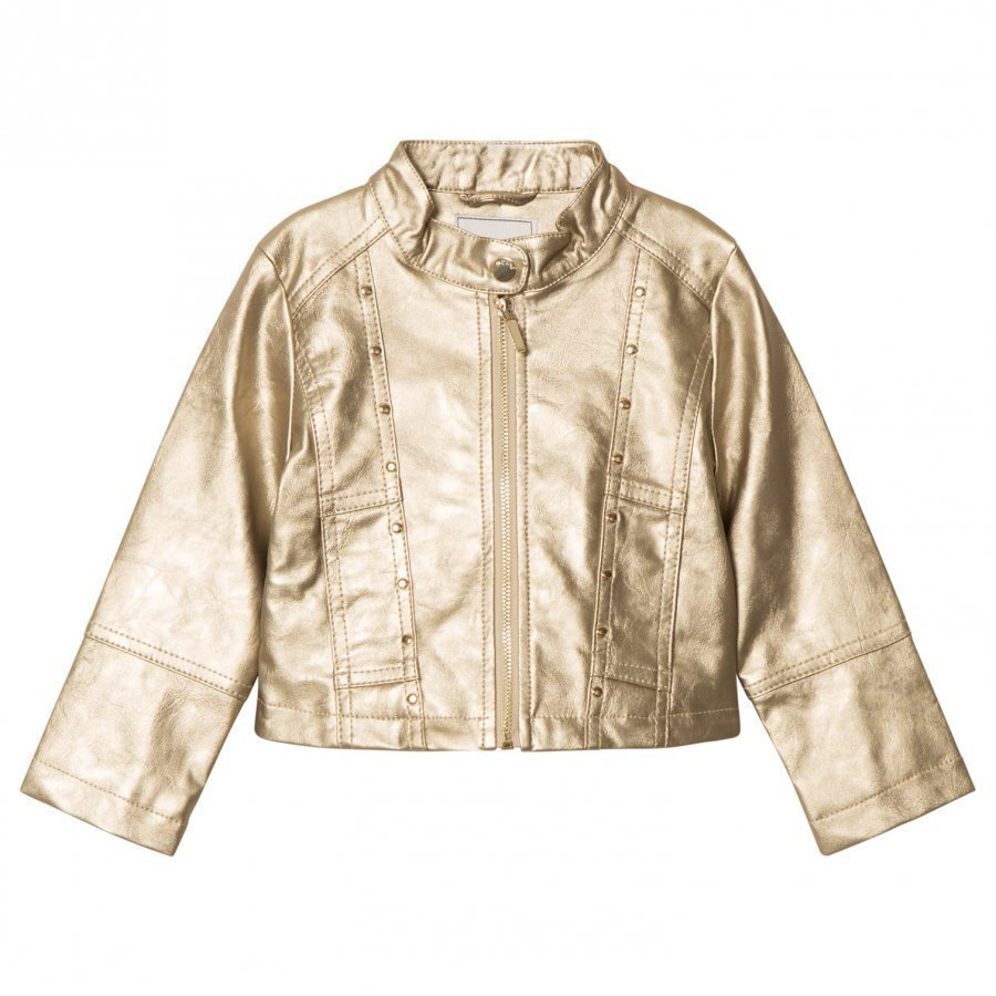 Mayoral Champagne Studded Pleather Jacket Nahkatakki