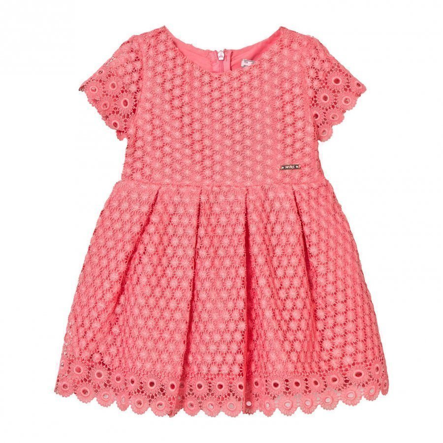 Mayoral Coral Eyelet Dress Juhlamekko