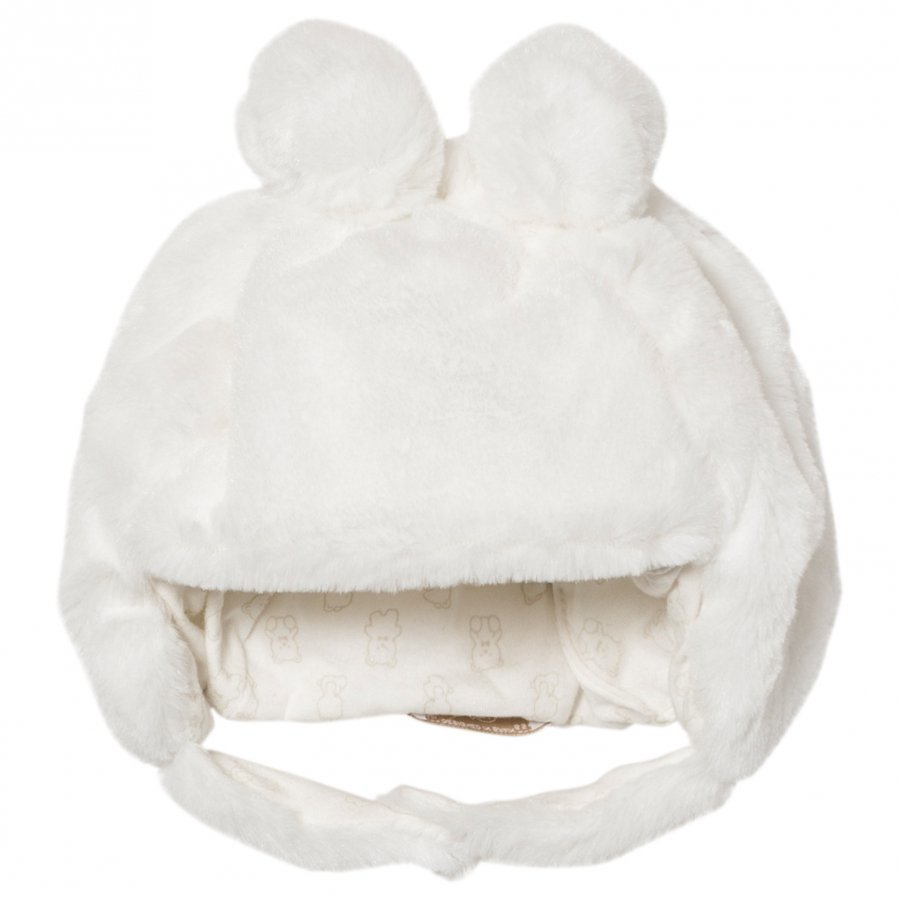 Mayoral Cream Faux Fur Teddy Hat Korvalapullinen Päähine
