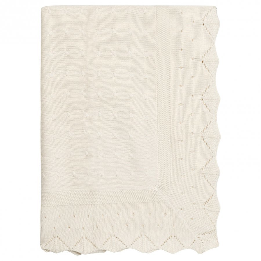 Mayoral Cream Knitted Baby Blanket Huopa