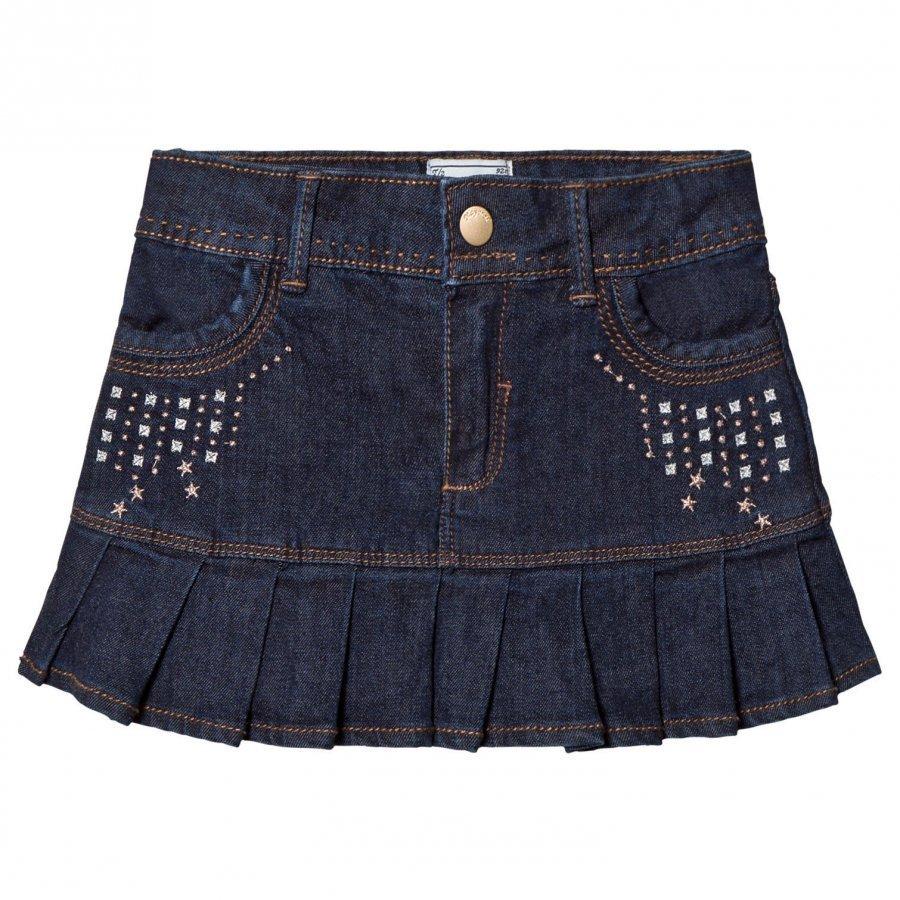 Mayoral Dark Wash Denim Skirt With Rivets Farkkuhame