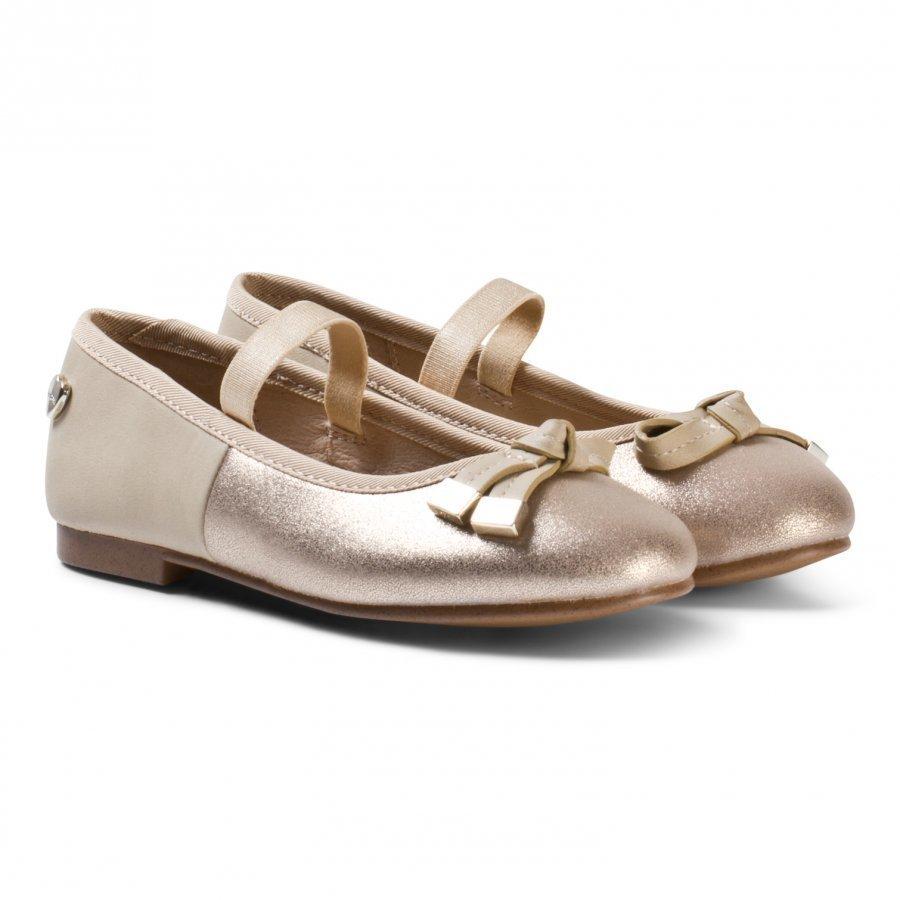 Mayoral Gold Sparkle Ballet Pumps Ballerinat