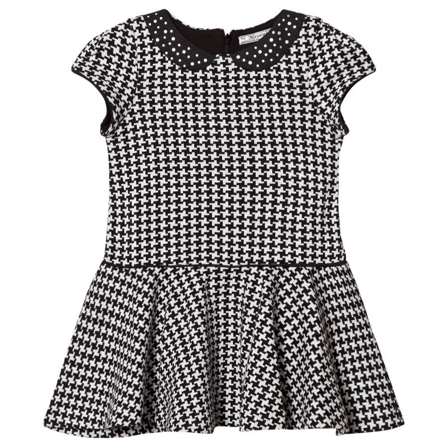 Mayoral Grey And Black Houndstooth Dress Juhlamekko