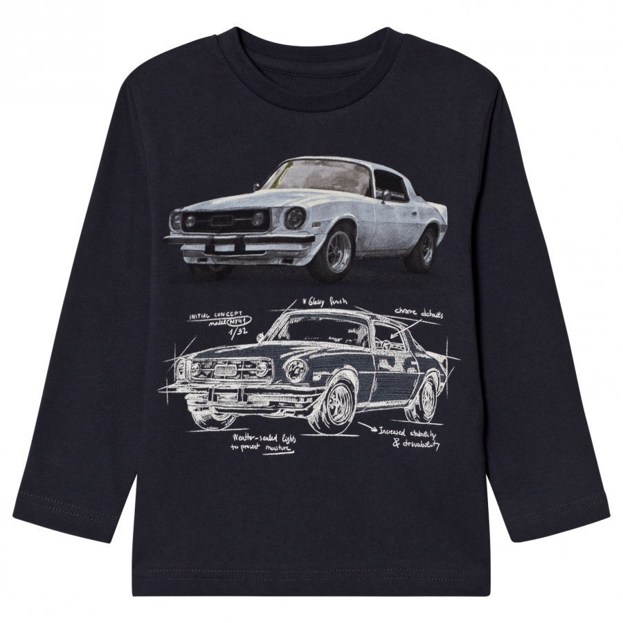 Mayoral Grey Car Design Long Sleeve Tee Pitkähihainen T-Paita