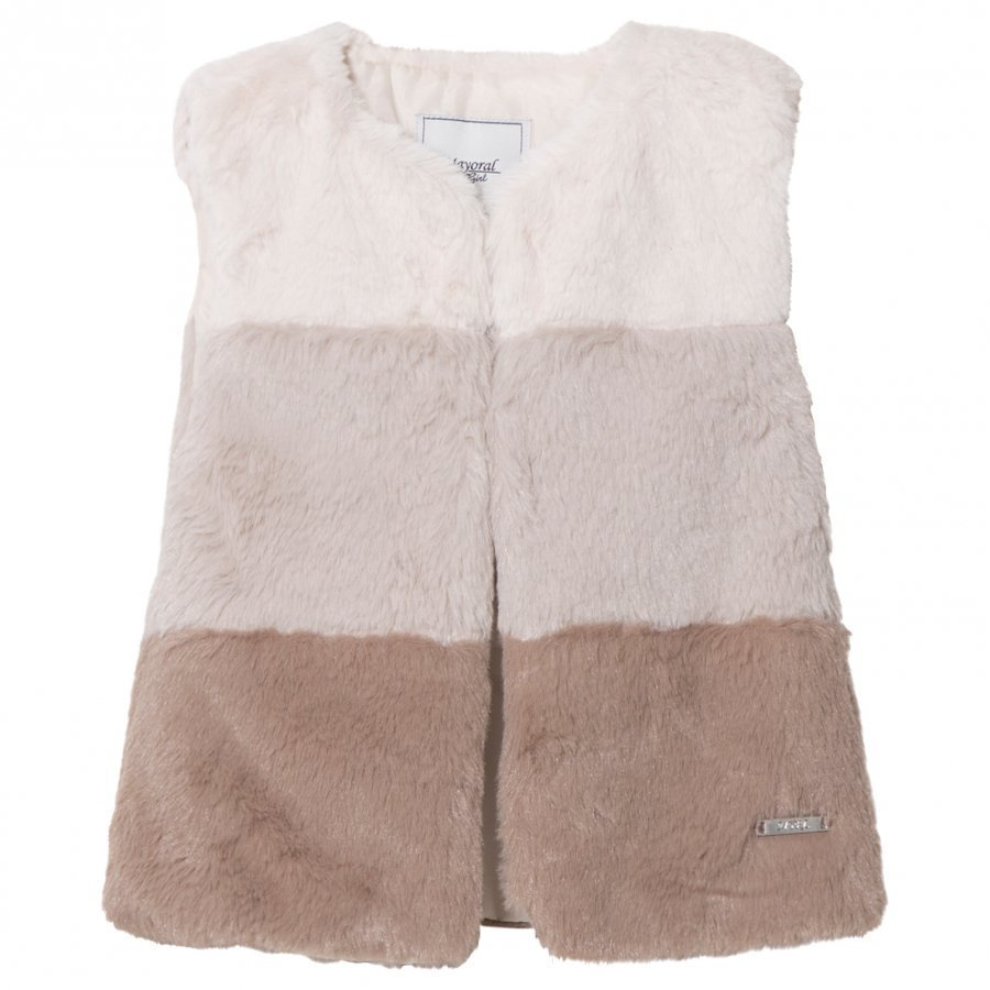 Mayoral Grey Ombre Faux Fur Gilet Toppaliivi
