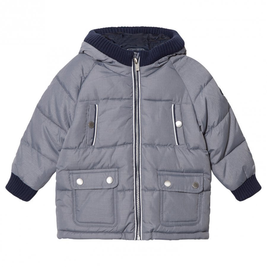 Mayoral Grey Padded Hooded Coat Toppatakki