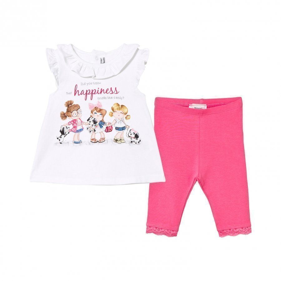 Mayoral Happiness Print Tee And Leggings Set Asusetti