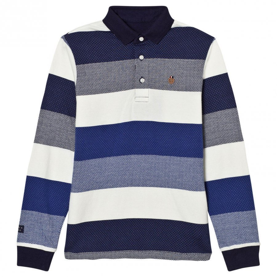 Mayoral Navy And White Stripe Polo Pikeepaita