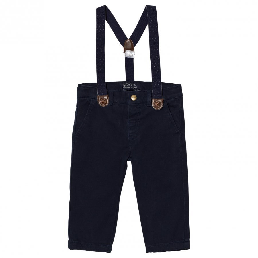 Mayoral Navy Chinos With Braces Chinos Housut