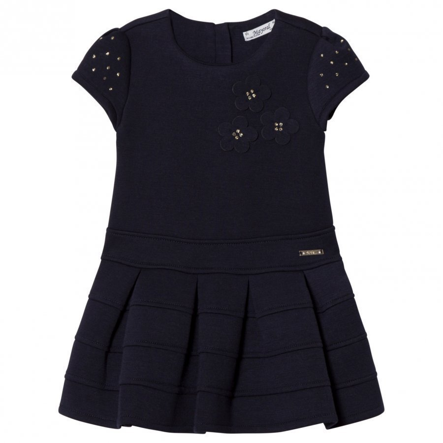 Mayoral Navy Flower Applique Milano Dress Juhlamekko