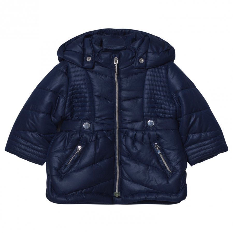 Mayoral Navy Hooded Puffer Coat Toppatakki