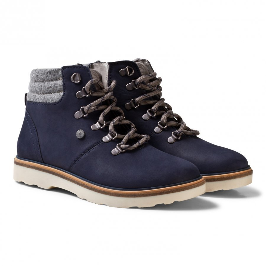 Mayoral Navy Lace Up Leather Boots Nilkkurit