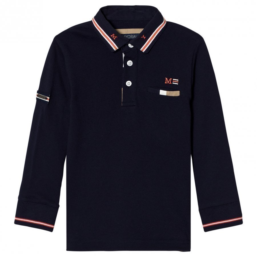 Mayoral Navy Long Sleeve Polo Pikeepaita