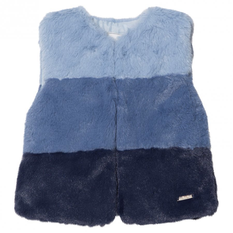 Mayoral Navy Ombre Faux Fur Gilet Toppaliivi