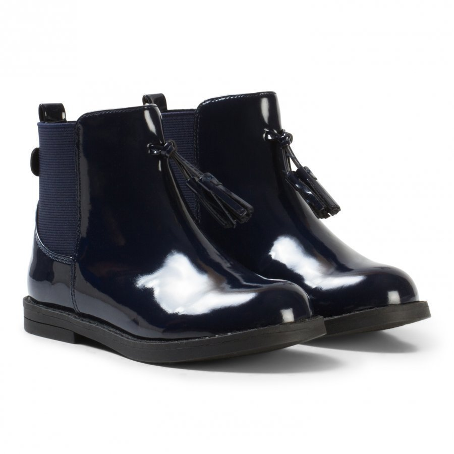 Mayoral Navy Patent Boots With Tassle Detail Nilkkurit