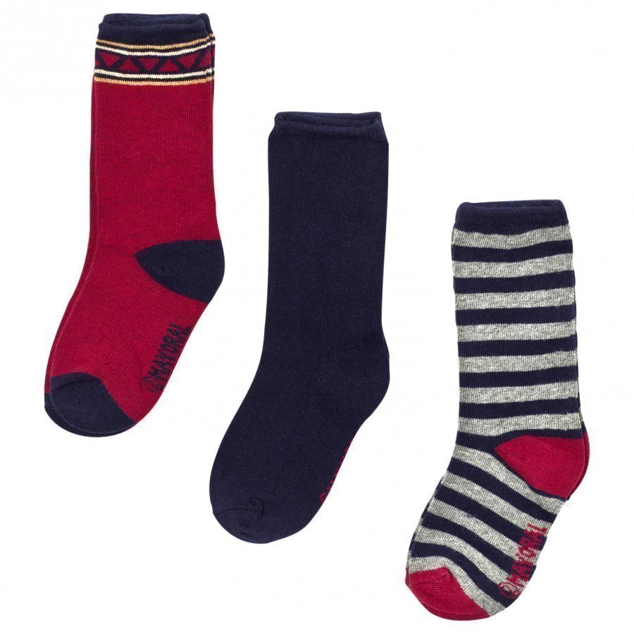 Mayoral Navy Pattern Socks 3 Pack Bokserit