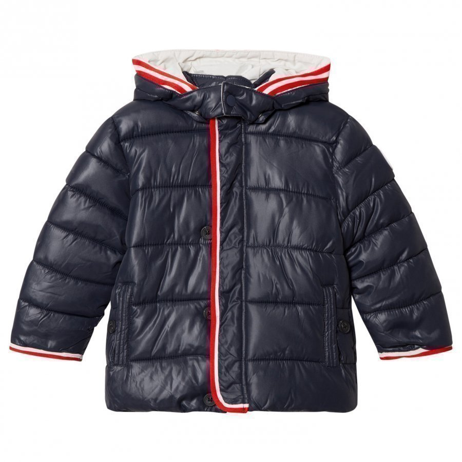 Mayoral Navy Puffer Coat With Detachable Hood Toppatakki