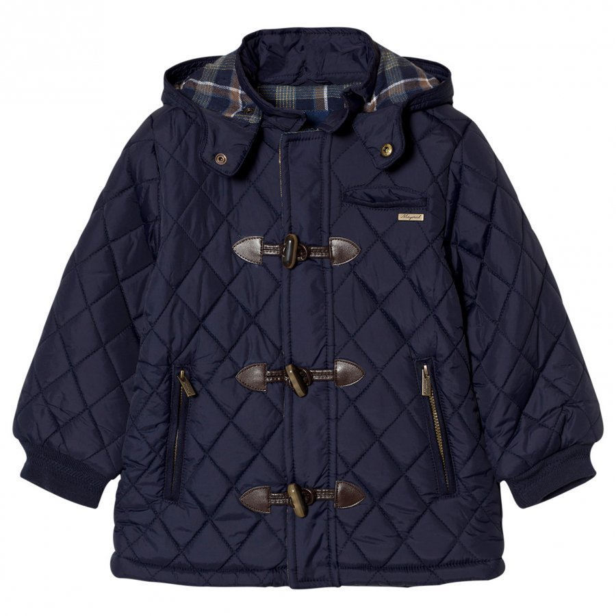 Mayoral Navy Quilted Duffle Coat Duffelitakki