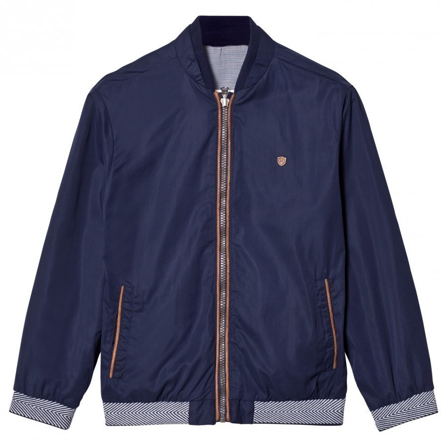 Mayoral Navy Reversible Check Bomber Jacket Bomber Takki