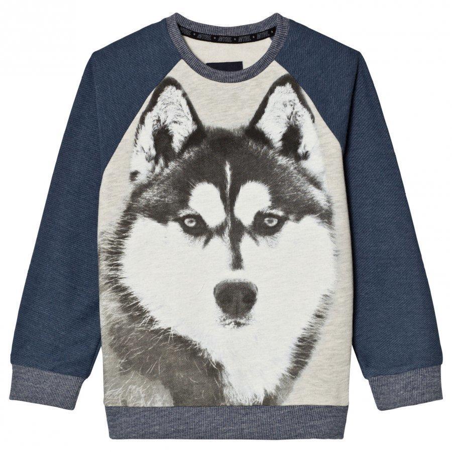 Mayoral Navy Wolf Print Raglan Sweatshirt Oloasun Paita