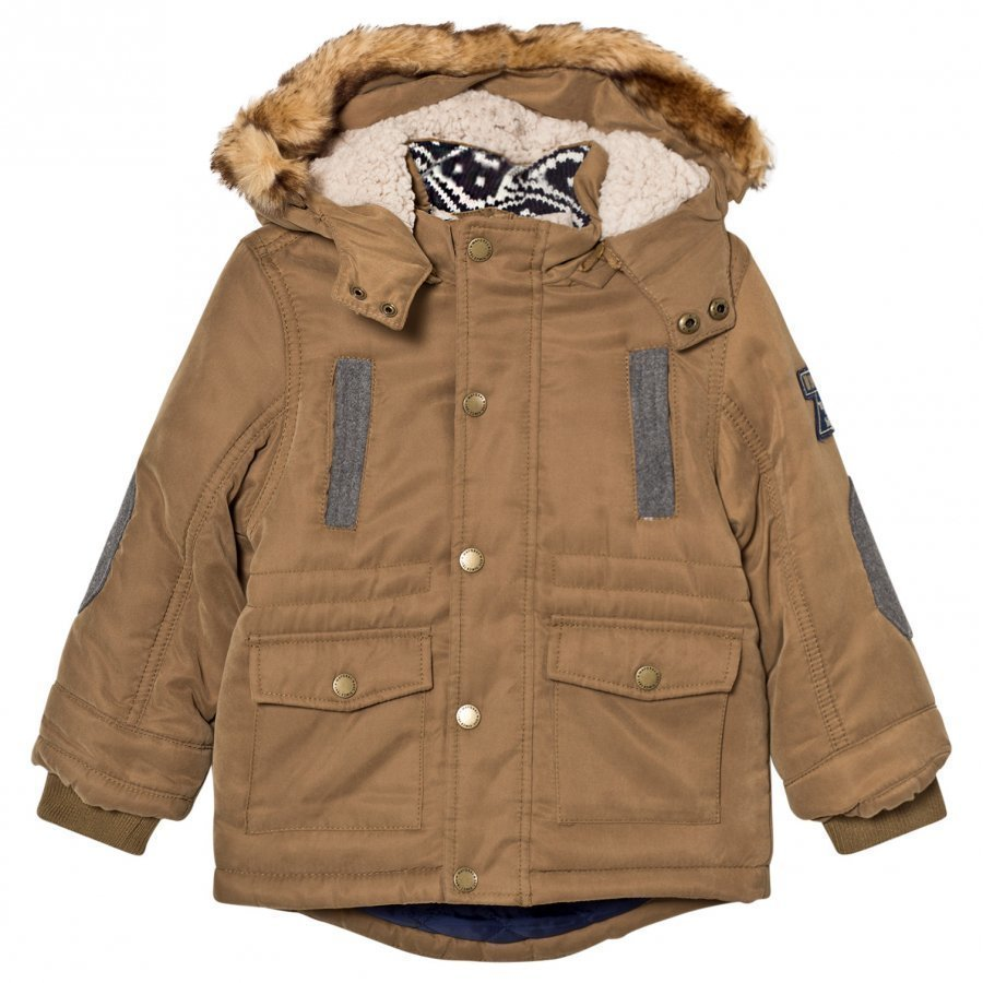 Mayoral Ocre Padded Hooded Parka Parkatakki