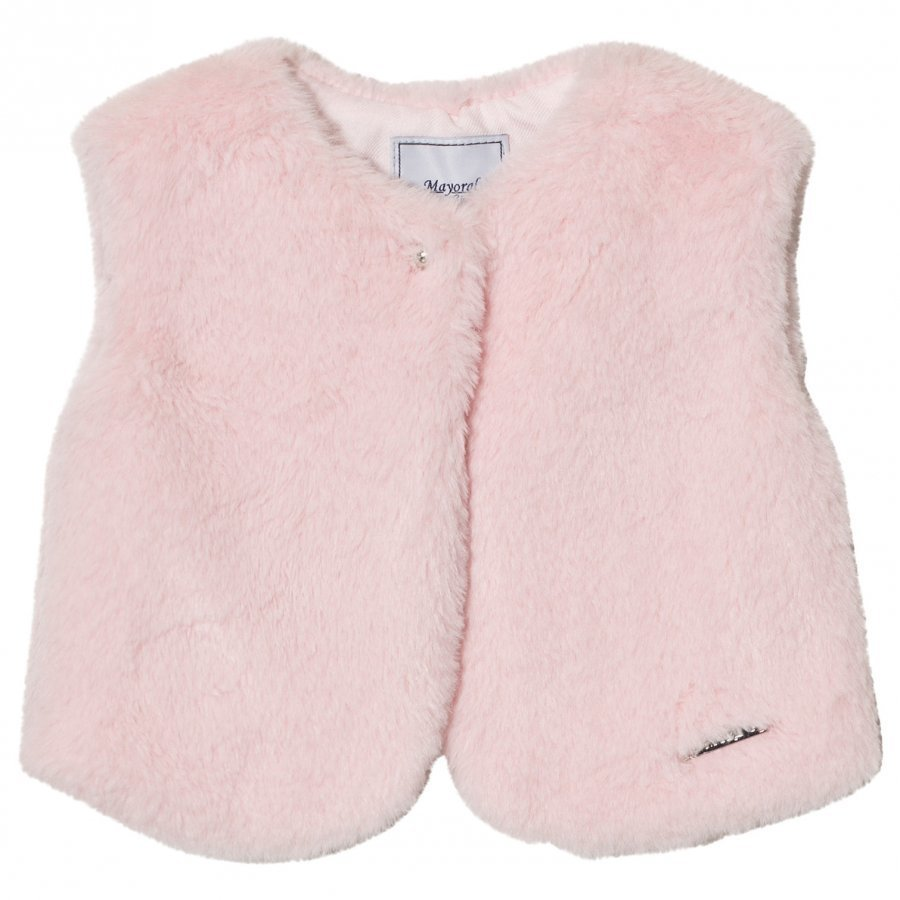 Mayoral Pale Pink Faux Fur Vest Turkis