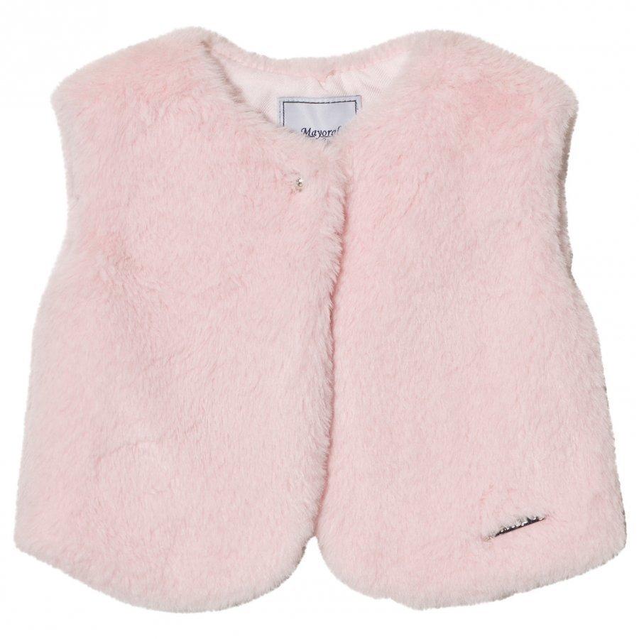 Mayoral Pale Pink Faux Fur Vest Turkis