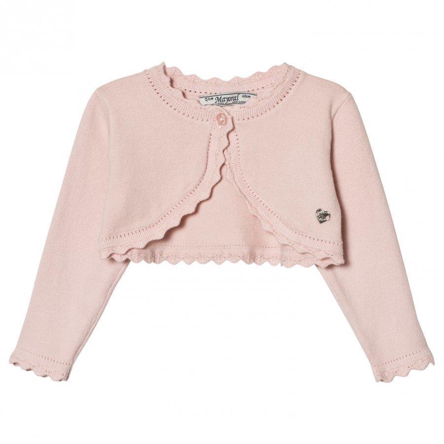 Mayoral Pale Pink Knit Bolero