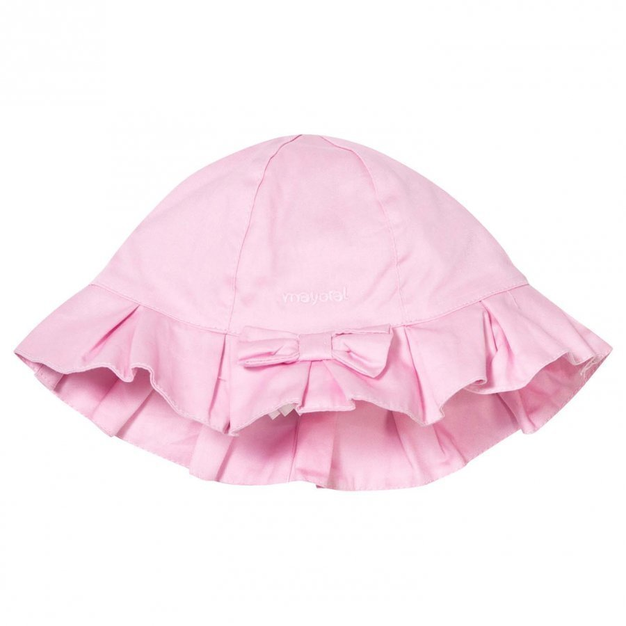 Mayoral Pink Bow Detail Cotton Sun Hat Aurinkohattu