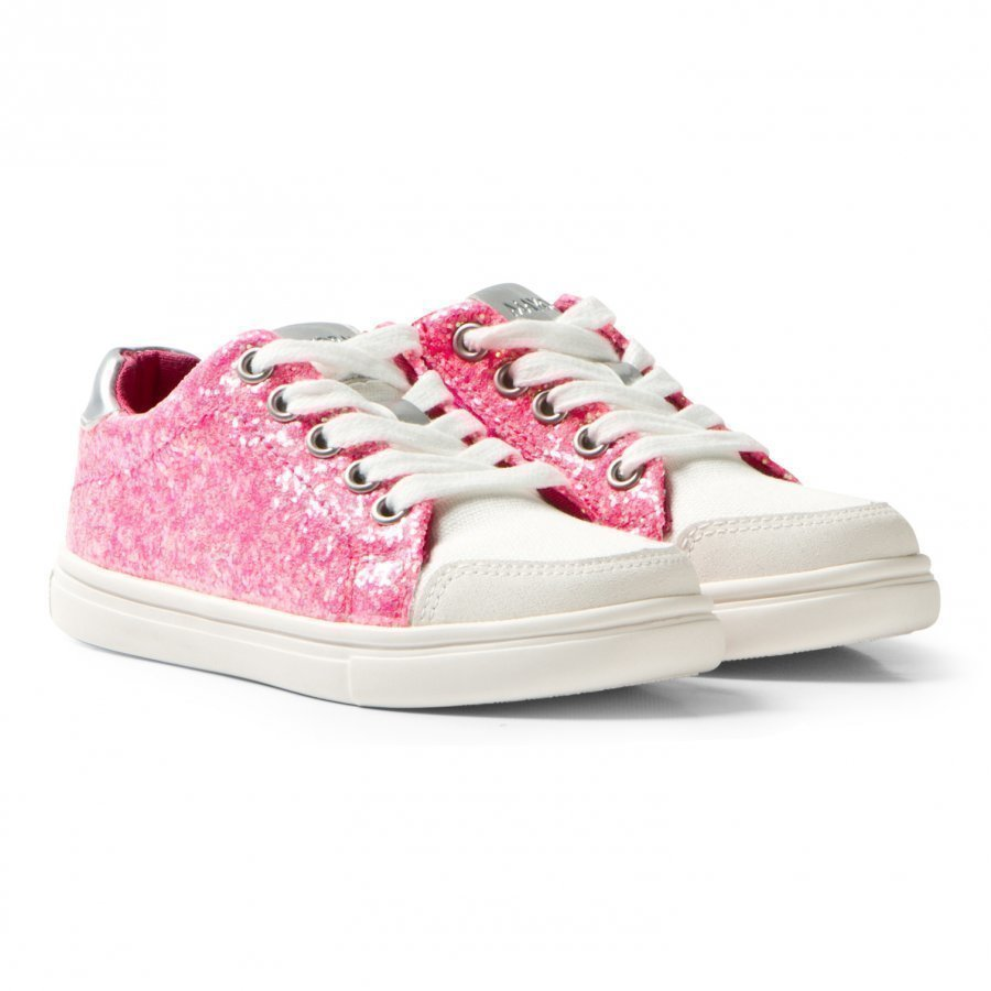 Mayoral Pink Glitter And Canvas Zip Trainers Lenkkarit