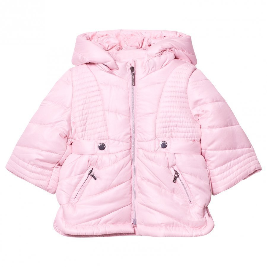 Mayoral Pink Hooded Puffer Coat Toppatakki