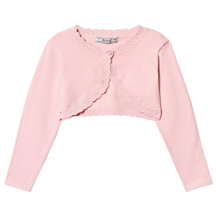 Mayoral Pink Knit Bolero