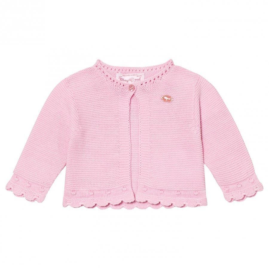 Mayoral Pink Knitted Cardigan Neuletakki