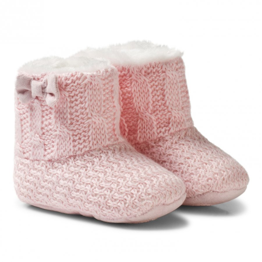 Mayoral Pink Knitted Faux Fur Lined Booties Vauvan Tossut