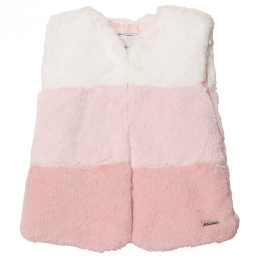 Mayoral Pink Ombre Faux Fur Gilet Toppaliivi