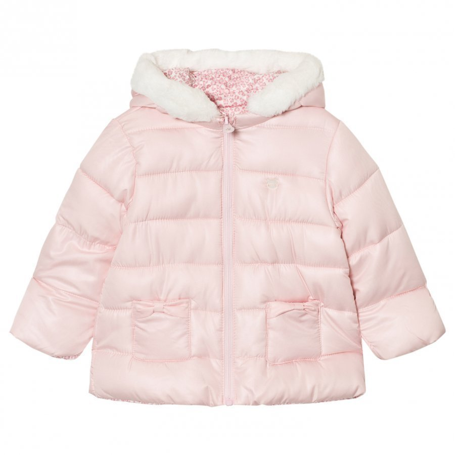 Mayoral Pink Padded Reversible Coat Parkatakki